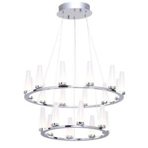 Briar - 23.75 Inch 56W 20 LED 2-Tier Chandelier