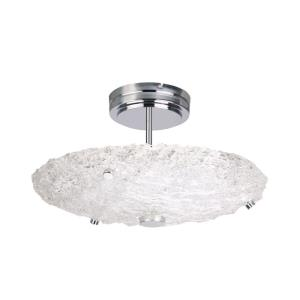 "Genoa - 12.5"" 20W 1 LED Semi-Flush Mount"