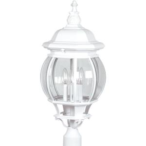 Classico-Four Light Outdoor Post Head in Traditional Outdoor Style-11 Inches Wide by 28 Inches High