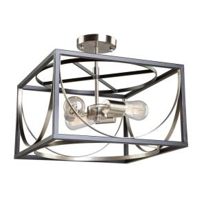 Corona - Three Light Semi-Flush Mount