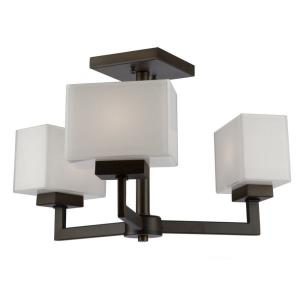 Cube Light - Three Light Semi-Flush Mount