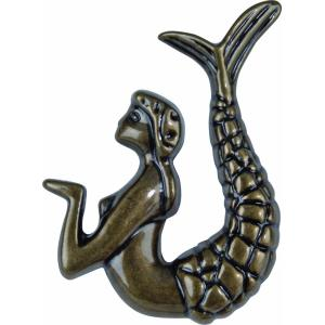 Garden Gate Collection 2.50 Inch Mermaid Right Cabinet Knob