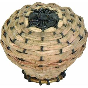 Hamptons Collection 1.50 Inch Small Bamboo Weave Cabinet Knob
