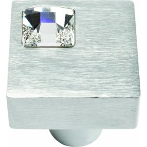 Crystal Collection 1 Inch Square Off Center Cabinet Knob