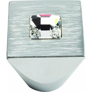 Crystal Collection 1 Inch Square Centered Cabinet Knob