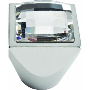 Crystal Collection 1 Inch Square Large Cabinet Knob