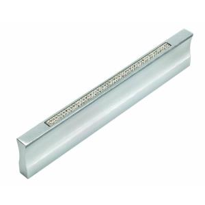 Pave Collection 5.40 Inch T Bar Inset Crystal Thin Pull