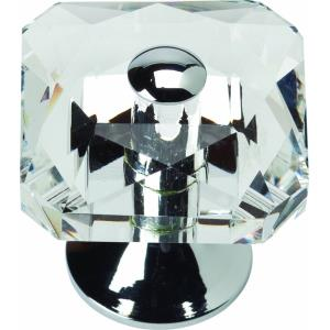Vintage Collection 1.50 Inch Large Crystal Cabinet Knob