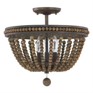 Handley - Three Light Semi-Flush Mount