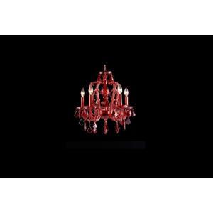 Crimson Boulevard - Five Light Mini Chandelier