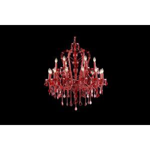 Crimson Boulevard - Eighteen Light Chandelier
