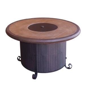"""42"""" Round Faux Stone Fire Pit"""