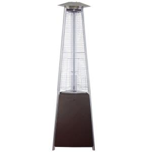 "94"" Tall Natural Gas Glass Tube Outdoor Patio Heater"
