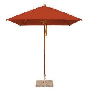 "Levante - 7'  Wide, 1.5"" Diameter Square Bamboo Market Umbrella"