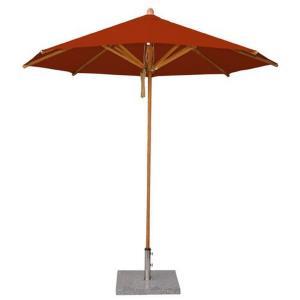 """Levante - 8.5' Wide , 1.5"""" Diameter Round Bamboo Market Umbrella"""