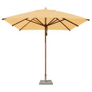 "Levante - 8.5' Wide,  2"" Diameter Square Bamboo Market Umbrella"