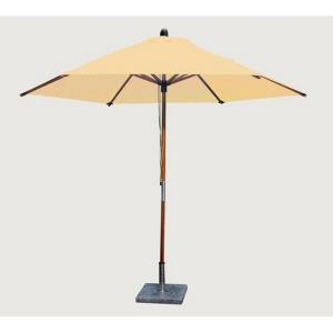 "Sirocco - 10' Wide,1.5"" Diameter 2 Piece Round Bamboo Market Umbrella"