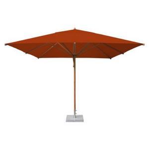 "Levante - 11.5' Wide,  2.25"" Diameter Square Bamboo Market Umbrella"