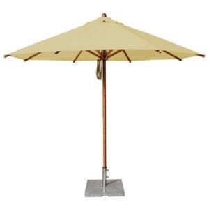 "Levante - 11.5' Wide, 2"" Dia Round Bamboo Market Umbrella"