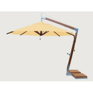 Side Wind - 11.5' Round Bamboo Cantilever Umbrella