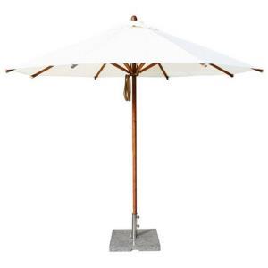 """Levante - 10' Wide, 2"""" Diameter Round Bamboo Market Umbrella"""