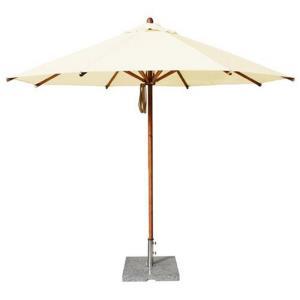 """Levante - 10' Wide, 1.5"""" Diameter Round Bamboo Market Umbrella"""
