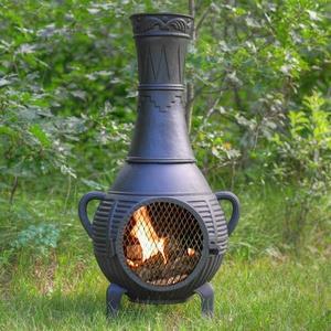 Pine - 44  Inch Gas Chiminea
