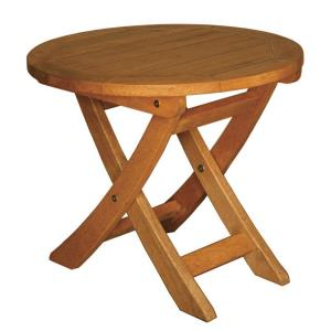 "Terrace Mates - 18"" Aspen Folding Round End Table"