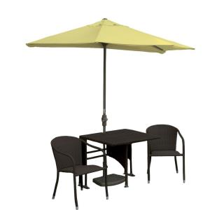 Terrace Mates Daniella - 7.5'  Half-Canopy Umbrella with Square Table Set