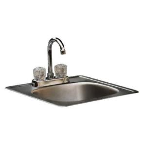 Small Stainless Steel Sink and Faucet
