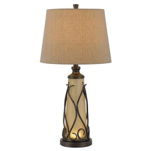 Taylor - One Light Table Lamp with LED Night Lamp