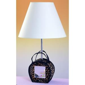 One Light Purse with Mirror Table Lamp