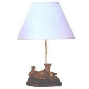 One Light Table Lamp with Lion Figure
