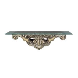 Beads and Leaf Wall Mount Console Table