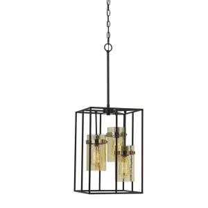 Cremona - Three Light Cage Pendant