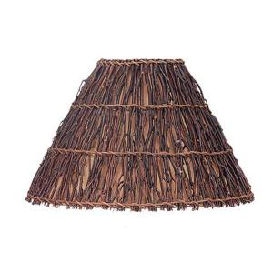 Round Woven Twig Shade