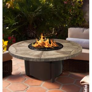 "Carmel - 42"" Tile Top Chat Height Fire Pit"