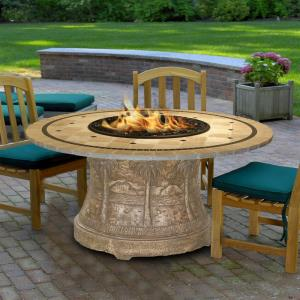 "Palm - 48"" Dining Height Laguna Mosaic Fire Pit"