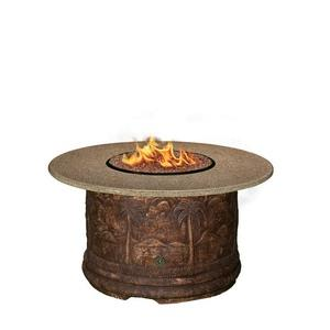 "Palm - 48"" Chat Height Capistrano Mosaic Fire Pit"