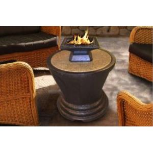Bistro - Capri Round-Sculptured Base Table Fireplace