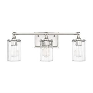Camden 3 Light Industrial Bath Vanity Approved for Damp Locations
