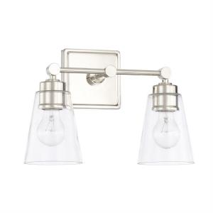 2 Light Transitional Bath Vanity Approved for Damp Locations
