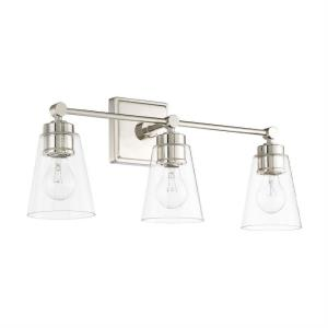3 Light Transitional Bath Vanity Approved for Damp Locations