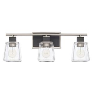 Tux 3 Light Transitional Bath Vanity Approved for Damp Locations