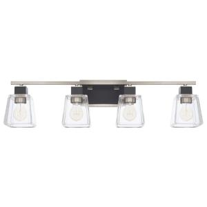 Tux - 4 Light Transitional Bath Vanity Approved for Damp Locations - in Transitional style - 32 high by 8.75 wide