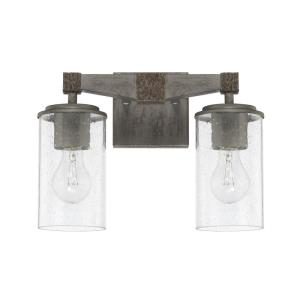 Zac 2 Light Industrial Bath Vanity Approved for Damp Locations