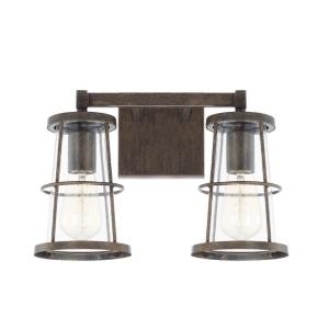 Beaufort 2 Light Transitional Bath Vanity Approved for Damp Locations