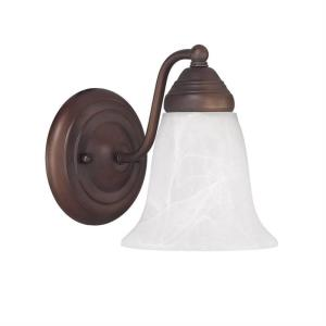 1 Light Wall Sconce - in Traditional style - 6 high by 8 wide
