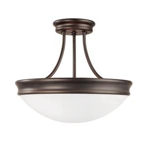 Three Light Semi-Flush Mount