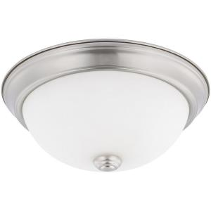 HomePlace - 11 Inch 2 Light Flush Mount - in Transitional style - 11 high by 4.5 wide